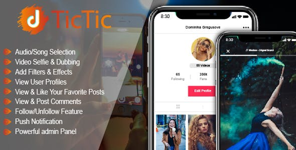 TicTic v3.0.5 Android media app for creating and sharing short videos